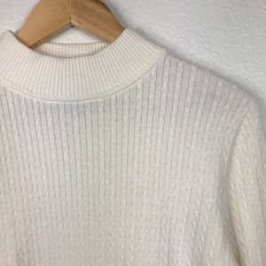 Karen Scott Knit Cream Sweater